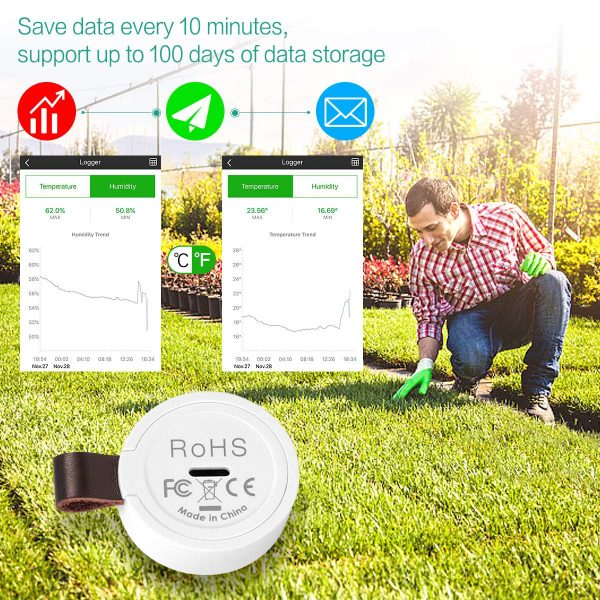 ORIA Igrometro Termometro Wireless Bluetooth
