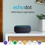 Echo Dot (3ª generazione) - Altoparlante intelligente con orologio e Alexa - Tessuto grigio chiaro