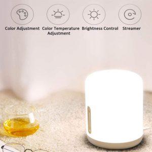 Lampada da Comodino Bluetooh e Touch, RGB WIFI Luce Notturna