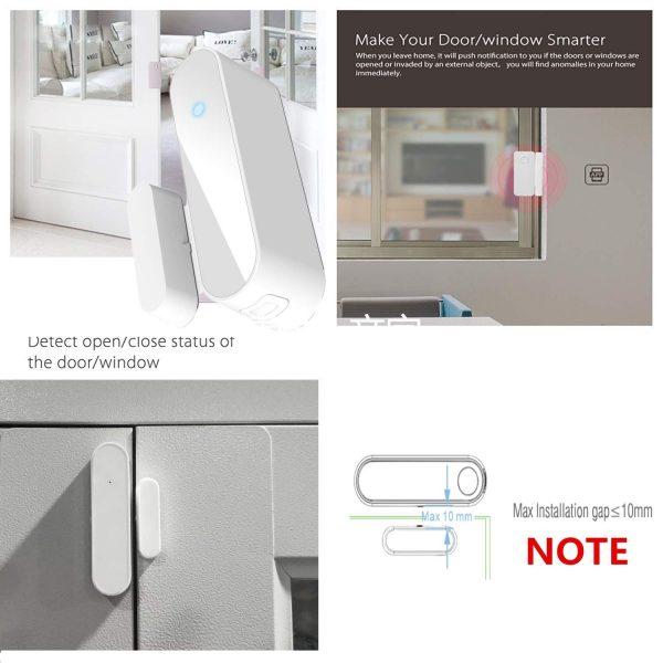 Rivelatore intelligente di sensori magnetici per porte e finestre