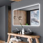 Alasta Specchio LED Retroilluminato da Bagno   140x100cm   Osaka   Specchio LED Bagno   Bianco Freddo A++