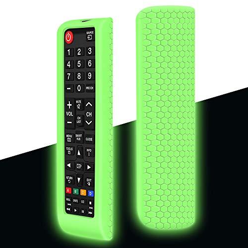 Custodia Verde Fluorescente per Samsung smart Tv - AntiScivolo Protettivo in Silicone