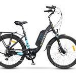 Argento Omega Bicicletta Elettrica City Bike - Ruote Kenda 26'', Unisex