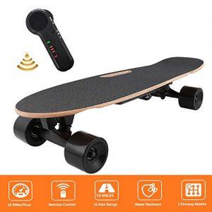 Bunao-Skateboard-Elettrico-E-Go-Cruiser-Longboard-con-Telecomando-Fino-a-20-kmh-per-Adulto