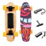 Casulo Skateboard Elettrico con Telecomando 3 velocità, Motore da 350W