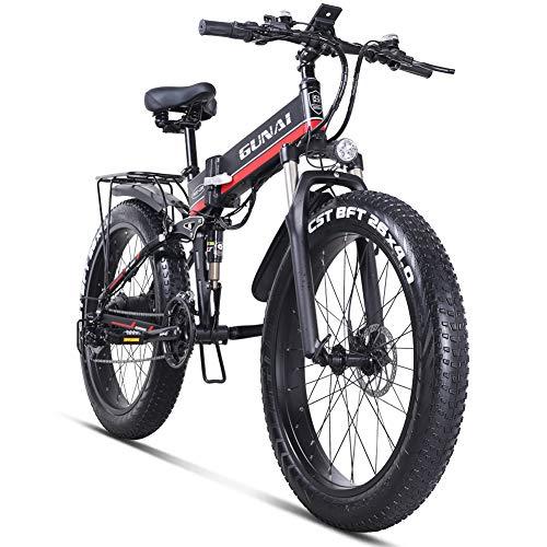 GUNAI Mountain Bici elettrica - eBike 1000W - 21 velocità - da 26'