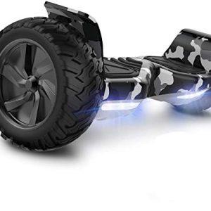 GeekMe Hoverboard Elettrico Fuoristrada - Auto bilanciamento LED luci e Bluetooth