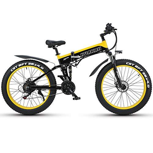 HUAKAI Bici Elettrica Pieghevole - Fat Bike 1000w 48v 13ah
