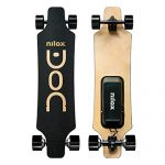 Nilox Doc Longboard Elettrico Unisex – Adulto, Nero/Oro, 90 cm