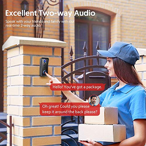 Videocitofono WiFi Victure con Telecamera Wireless HD 1080P