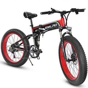 XXCY Bicicletta elettrica Fat Bike 1000W-48V-13Ah