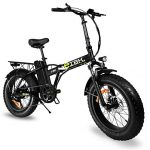 "e-IBK Bici Elettrica Pieghevole - Fat Bike 20"" Batteria 48V"